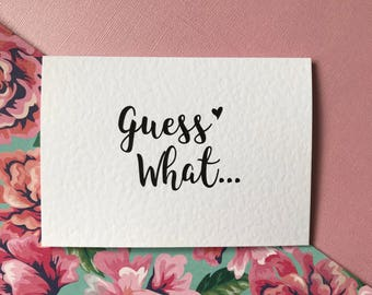 Pregnancy announcement cards etsy guess what pregnancy announcement card youre going to be a daddyauntiegrandmagrandadnanunclegreat auntie surprise card m4hsunfo