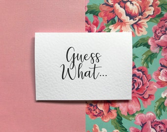 Holiday cards etsy guess what surprise destinationholiday card m4hsunfo