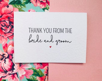 Wedding Thank You from the Bride and Groom Cards