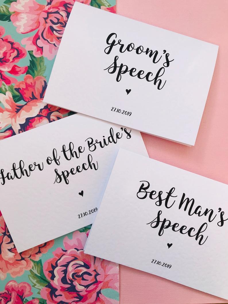 Best Man/'s Speech Card
