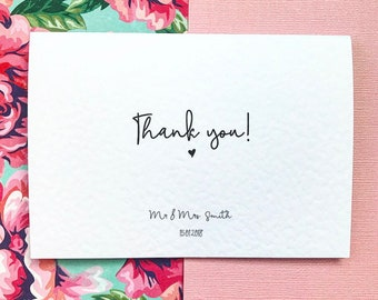 Wedding Thank You Personalised Cards