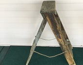 Vintage Wooden Ladder - 3 Treads - Plant Stand - Patio Decor - Porch Decor - Shabby Chic