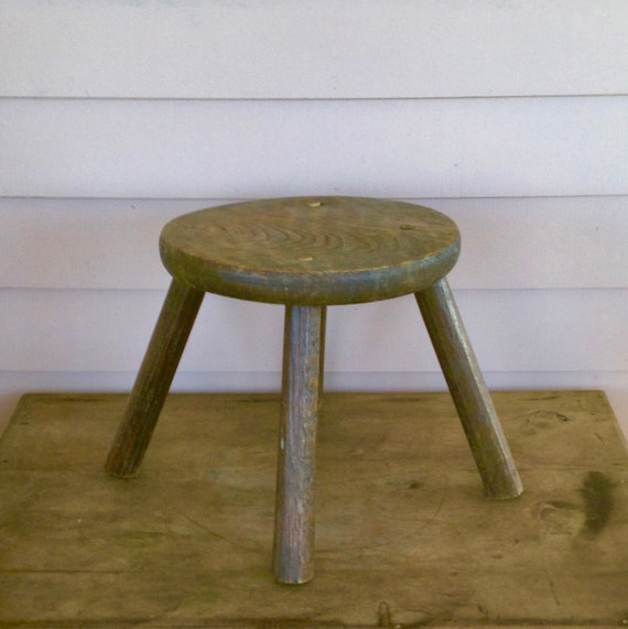 Fabulous Victorian Country Stool Rustic Farm Stool Fireside Stool Plant Stand Original Patina Ocoug Best Dining Table And Chair Ideas Images Ocougorg