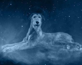 Irish Wolfhound Bath Soap Wash Your Paw Dog Lovers Landscape Poster No Frame