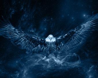 S053b: Shamanic Guardians - Eagle - portrait