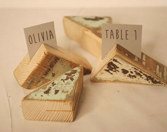5 pieces rustic place card holders, Wedding placecard, name holdes.