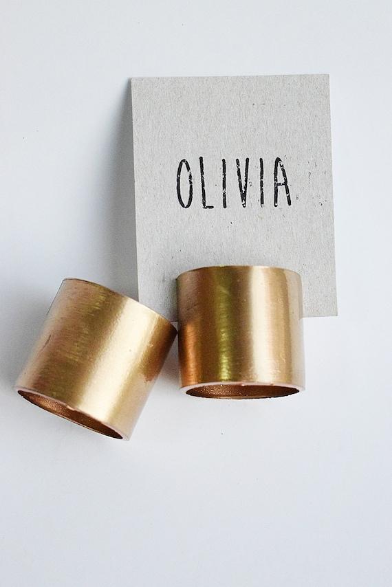 30 Stück rustikale hohe Gold Rohr Platz Kartenhalter, Hochzeit Kartenhalter, Kupfer Name Kartenhalter, Metall Tisch Nummer Halter