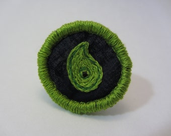 Magatama Hand Embroidered Merit Badge-Style Patch