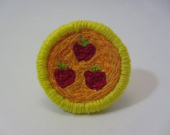 Applejack Cutie Mark Hand Embroidered Merit Badge-Style Patch