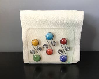 Napkin Holder- Acrylic, Beaded Napkin Holder, Kitchen Storage, Tabletop Decor, Decorative Napkin, Napkin Dispenser, Acrylic Napkin Holder