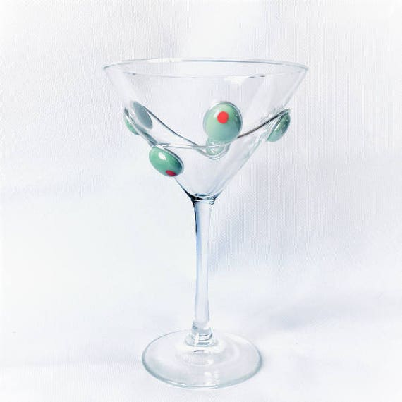Martini Glass Martini Glass Set Olive Decor Olive Martini Etsy