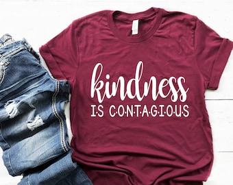 Kindness is Contagious T-Shirt, Kindness Matters Shirt, Teacher Tee, Shirts For School, Teacher Shirt, School Counselor Shirt, Social Worker