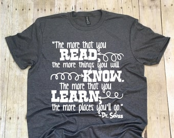 Teacher Shirts, Teacher T-Shirt, Read Across America Shirt, Teacher Shirt, Teacher Team Shirt, Reading Shirt, Reading Teacher Shirt, Teach