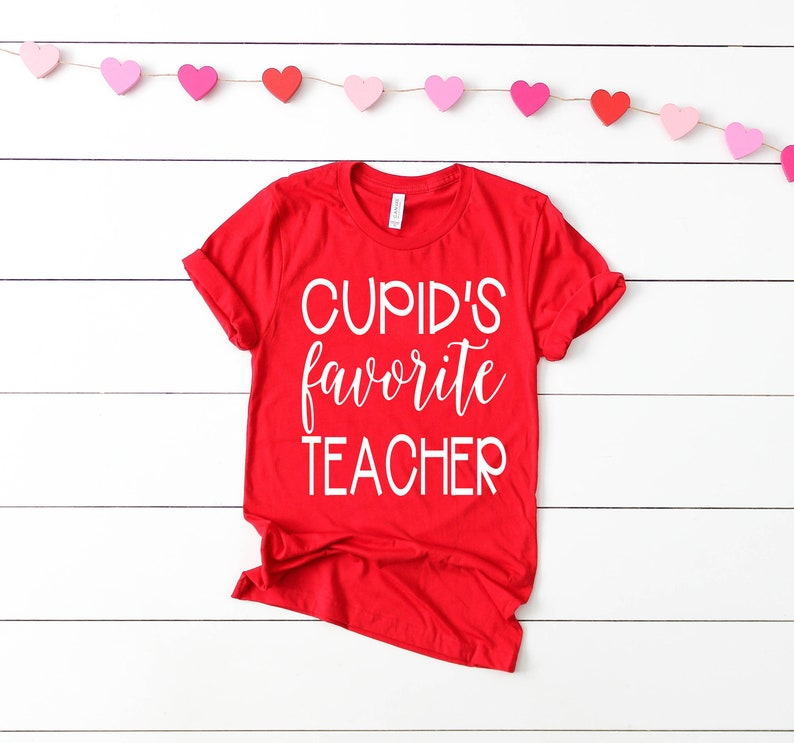 Teacher Valentine Shirt Cupid's Favorite Teacher Teacher image 0