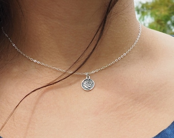Sterling Silver LILY of THE VALLEY Necklace • Sterling Silver Flower Necklace • Flowers Lover Gift • Dainty Necklace • Layering Necklace