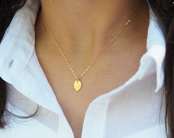 Gold Leaf Necklace, Delicate Leaf Necklace, Gift for Her