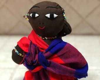 African doll // Handmade // Maasai Tribe