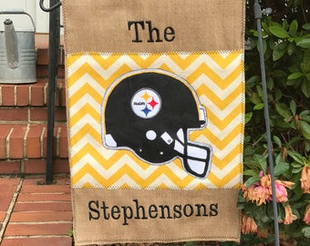 Personalized Pittsburgh Steelers Garden Flag