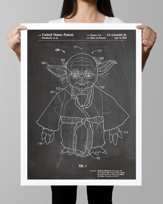 2003 E.T The Extra Terrestrial Patent Print Art Drawing Poster 18X24