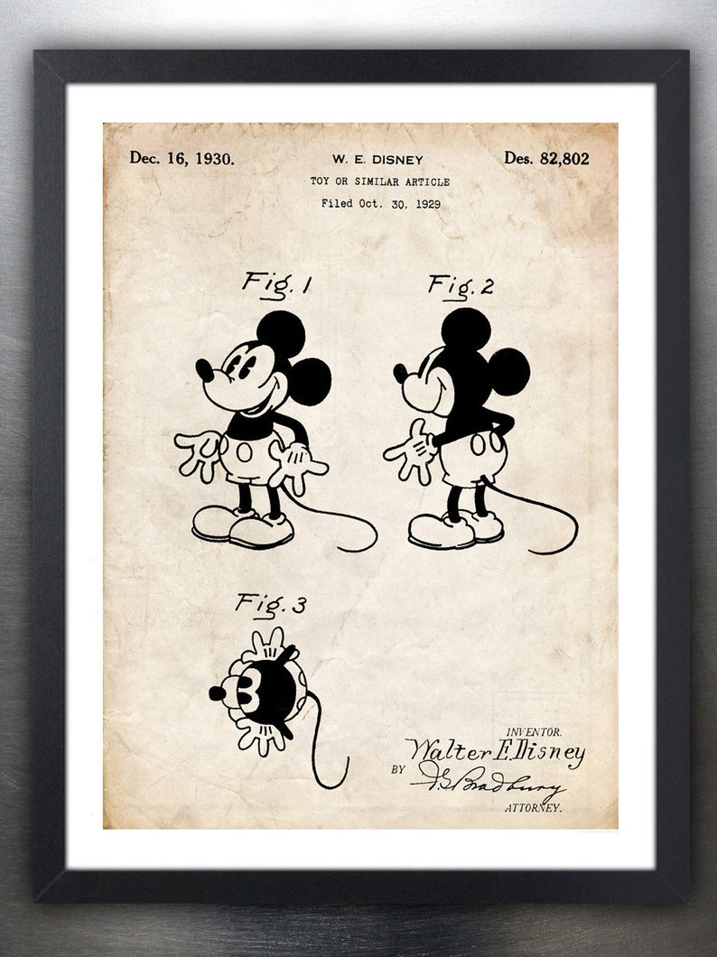 Playful Pluto WALT DISNEY ART PRINT MICKEY MOUSE 11x14 Poster OUT OF PRINT