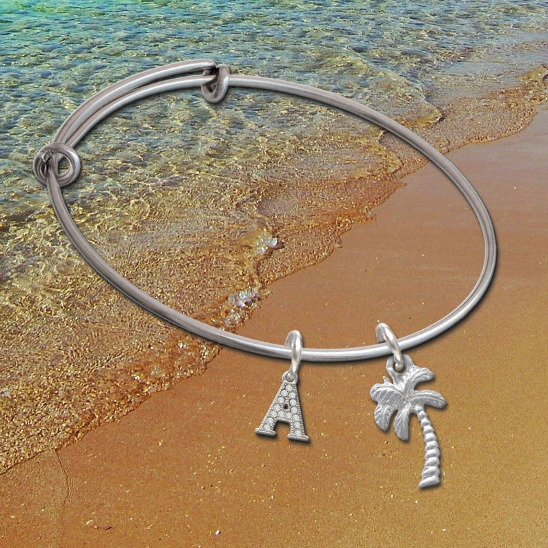 College Jewelry Auburn Tigers Stainless Steel Adjustable Bangle Bracelet with Rose Gold Plated Heart Charm