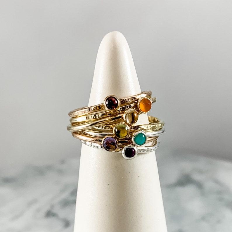 metaphysical jewelry chakra ring healing jewelry birthstone jewelry alignment ring chakra jewelry rainbow ring stacking ring