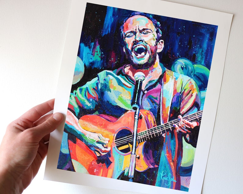 Colorful Singing Musician Art Print from my Original Acrylic image 0