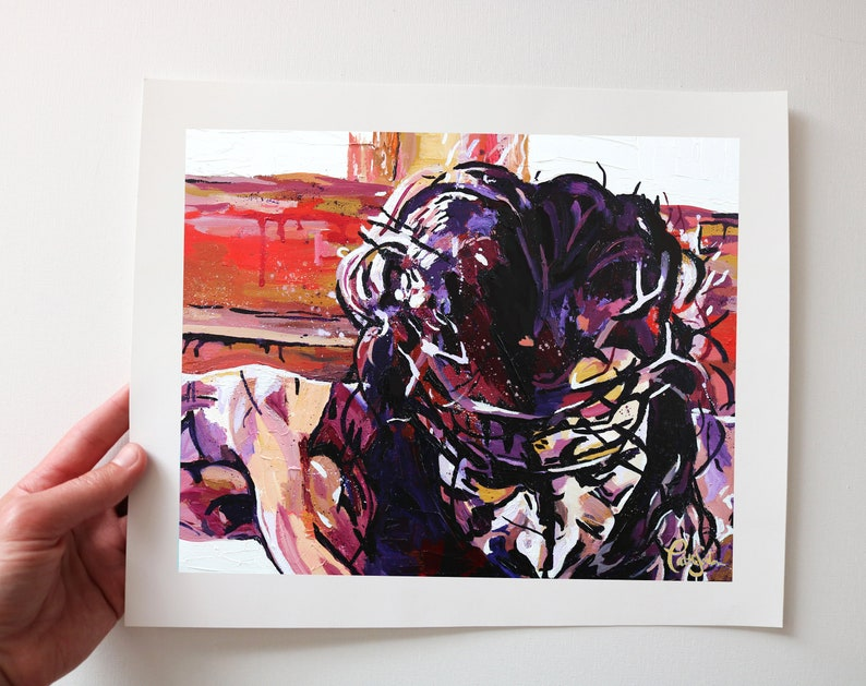 Crown of Thorns Art Print from my Original Acrylic Painting image 0