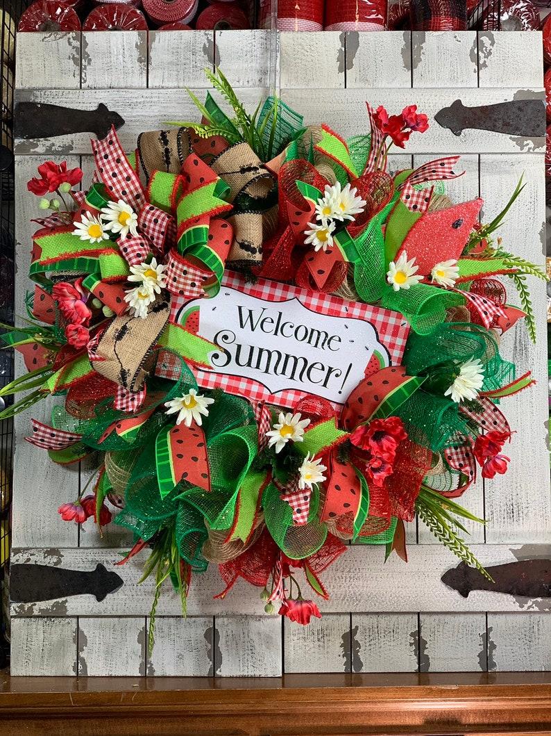 Spring Wreaths Summer Wreaths Front Door Wreaths Deco Mesh Etsy