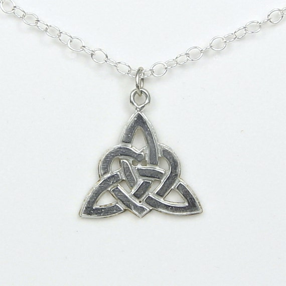 Love Knot Pewter Necklace Large Symbol Of Never Ending Love Etsy