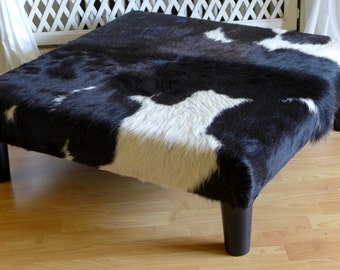 Good Cowhide Coffee Table, Real Cowhide Tablestool, Upholstered Table, Ottoman,  Side Table,