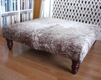 Awesome Cowhide Coffee Table, Real Cowhide Tablestool, Upholstered Table, Ottoman,  Side Table