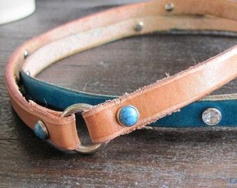 Tag Collar, Leather Dog Tag Collars, Greyhound Tag Collar, House Collar, Id Collar, Whippet Collar, Sighthound Collar