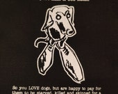 Vegan patch DOG LEATHER -...