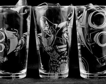 Reaper Laser Engraved Pint Glass