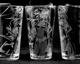 Tharja Laser Engraved Pint Glass