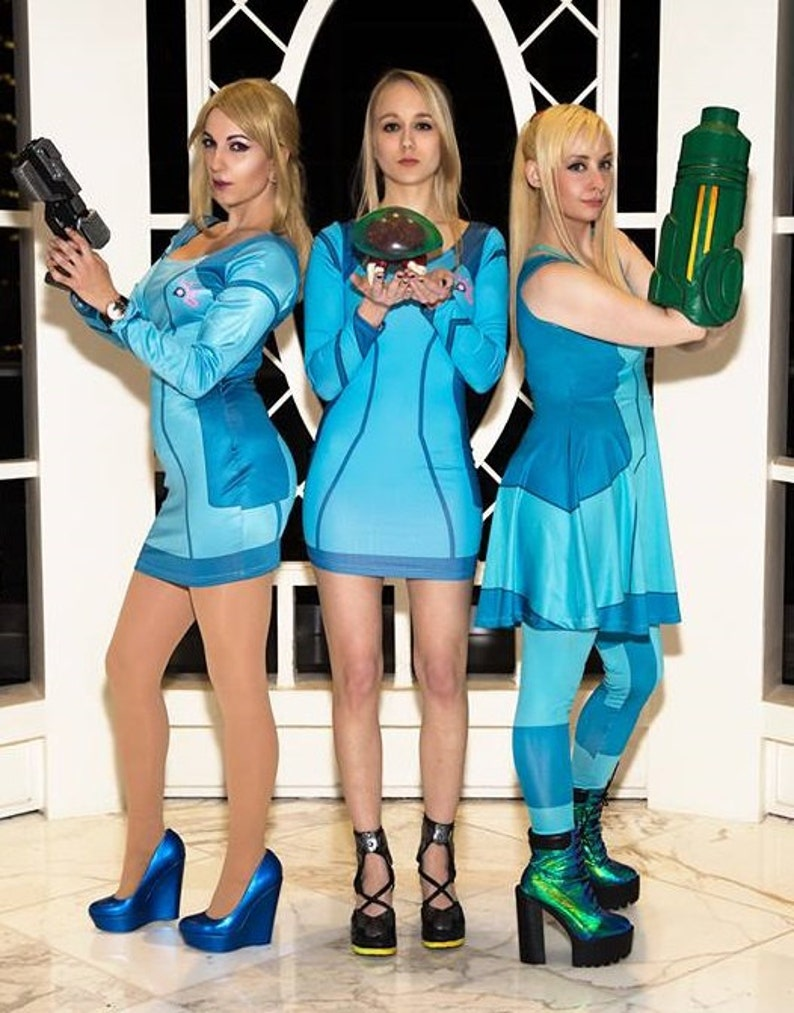 Zero Suit Samus Inspired Dresses Etsy