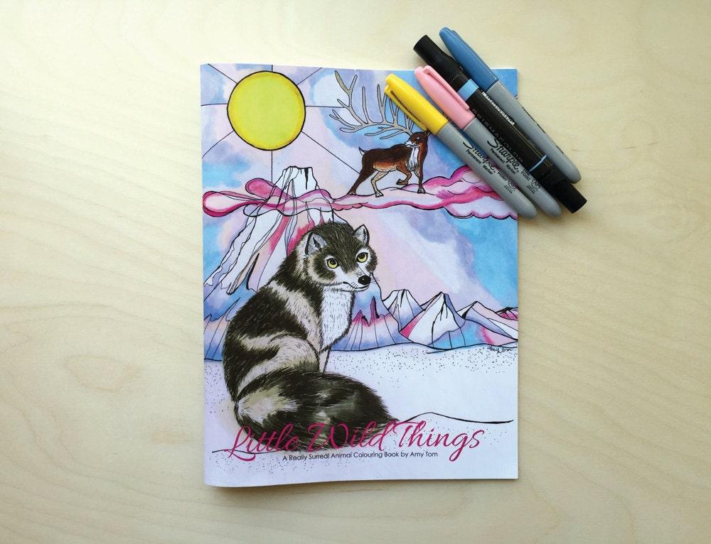 Malbuch für Erwachsene und Kinder Kunst wunderliches Tier   Etsy
