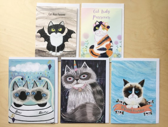 Mix Match 5 Greeting Cards Dog Themed Holiday Cards Cards Etsy