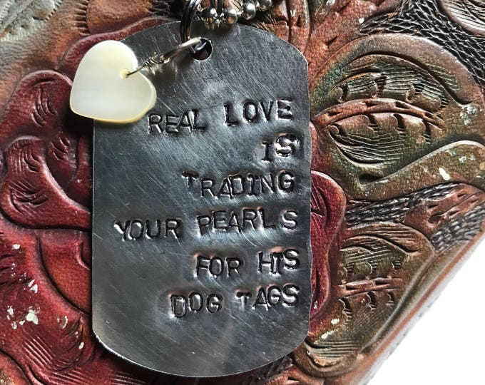 Love deployment army navy marines national guard reserves dog tags military veteran served USA soldier nation custom jewelry tag trade love