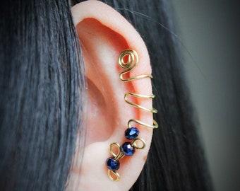 Fantasy ear cuff, handmade ear climber, no piercing cartilage ear cuff