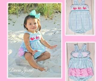 58216e008 Whale Smocked Ruffle Bubble Whale Bubble Smocked Baby Beach Romper Toddler  Girl Bubble Girls Beach Romper Baby Ruffle Bubble Bubble Romper