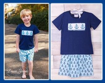 52d237b61f605 Anchor, Smocked Boys, Boys Shorts Outfits, Summer Boys Clothes, Boys  Clothing, Toddler Boys Outfits, Toddler Boys Clothing, Boy Shorts Sets