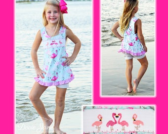 85f0a44f5d Flamingo Smocked Swingtop Set Flamingo Outfit Girls Flamingo Outfit Girls Flamingo  Clothing Toddler Beach Outfit Girls Beach Outfit Flamingo