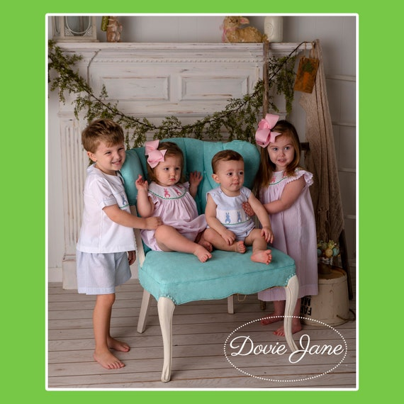 059fc1ac3 Easter Bunny Matching Sibling Outfits Easter Boy Girl Matching   Etsy