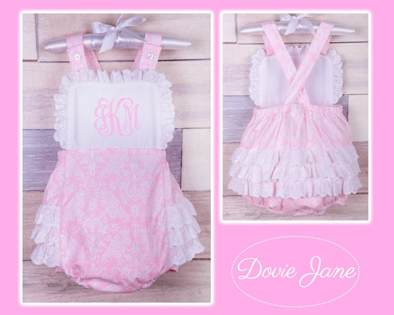 9ec3f881164 Personalized Girls Outfit Baby Girl Romper Baby Ruffle