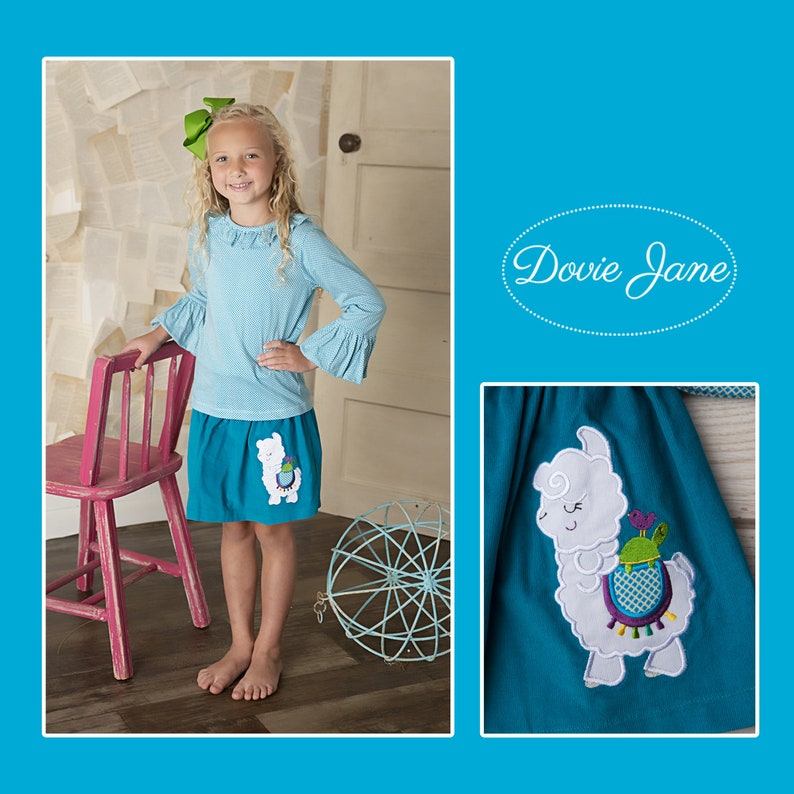 Ruffle Top Llama Girl Set Llama Outfit Kindergarten Outfit Outfit Set Fall Long Sleeve Toddler Shirt Girls Fall Outfit Clothing