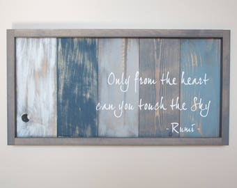 Rumi Quote Art - Inspirational Quote - Pallet Wood Art - Reclaimed Wood Wall Art - Framed Wood Sign - Motivational Wall Decor - Office Decor