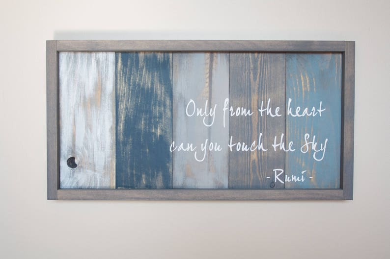 Rumi Quote Art Inspirational Quote Pallet Wood Art Reclaimed Wood Wall Art Framed Wood Sign Motivational Wall Decor Office Decor