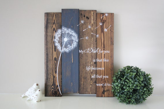 & Reclaimed wood wall art My wish for you Reclaimed pallet